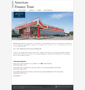 American Finance Trust, Inc. Website Screenshot