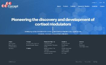 Corcept Therapeutics Incorporated Website Screenshot