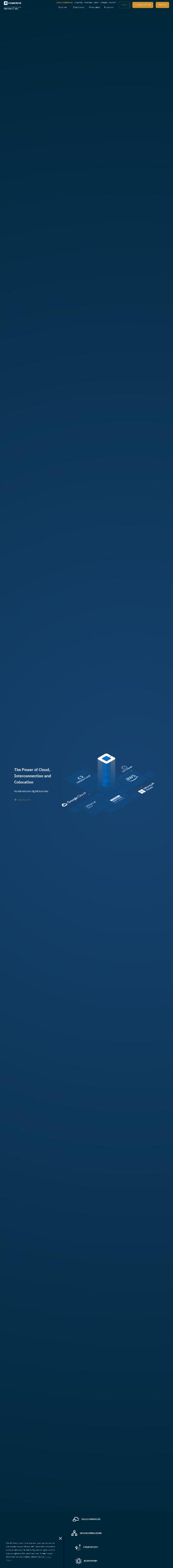 CoreSite Realty Corporation Website Screenshot