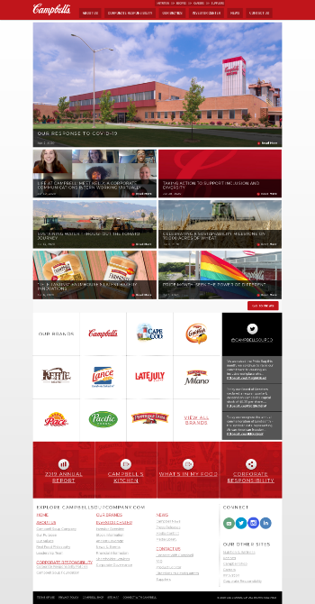 Campbell Soup Company Website Screenshot