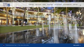 American Assets Trust, Inc. Website Screenshot