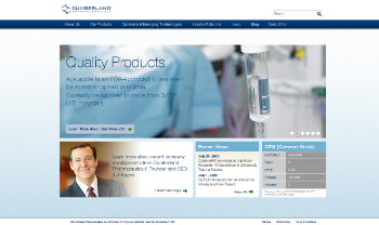 Cumberland Pharmaceuticals Inc. Website Screenshot