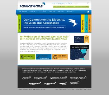 Chesapeake Utilities Corporation Website Screenshot