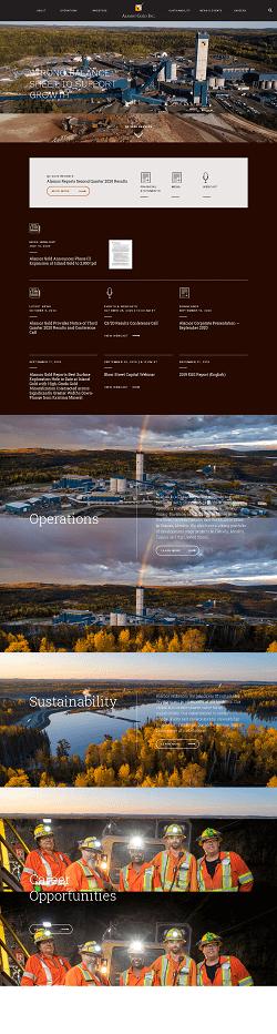 Alamos Gold Inc. Website Screenshot