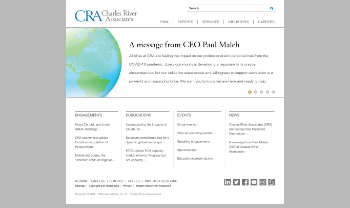 CRA International, Inc. Website Screenshot