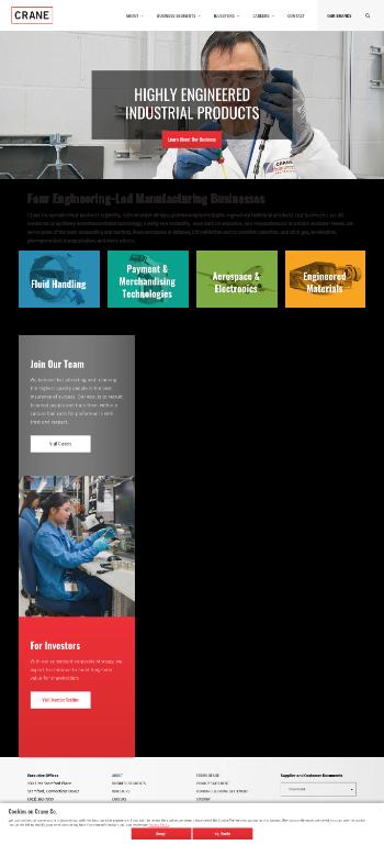 Crane Co. Website Screenshot