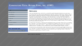 Cornerstone Total Return Fund, Inc. Website Screenshot