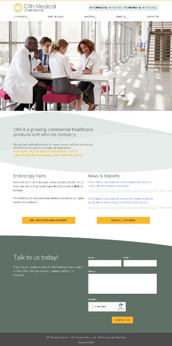 CRH Medical Corporation Website Screenshot