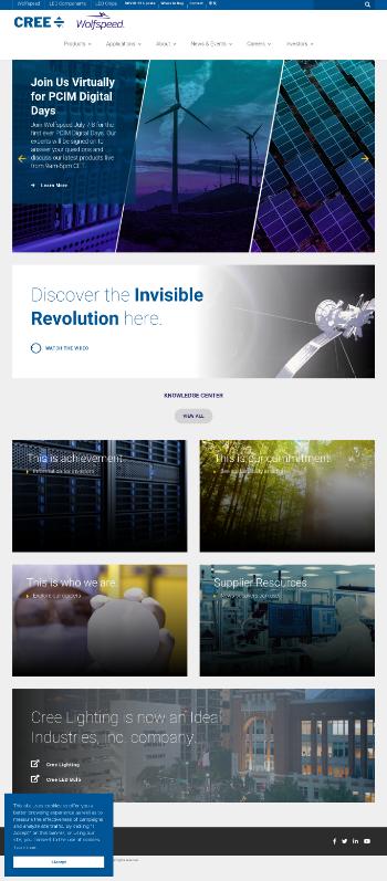 Cree, Inc. Website Screenshot