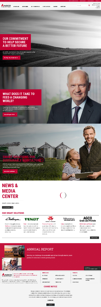 AGCO Corporation Website Screenshot