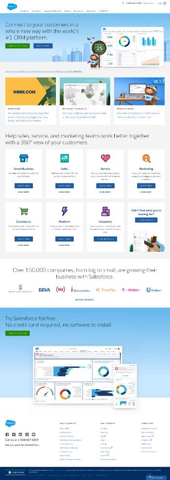 salesforce.com, inc. Website Screenshot