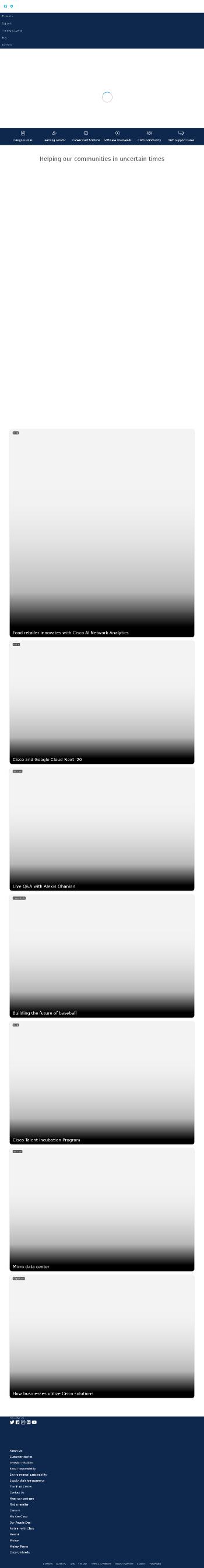 Cisco Systems, Inc. Website Screenshot