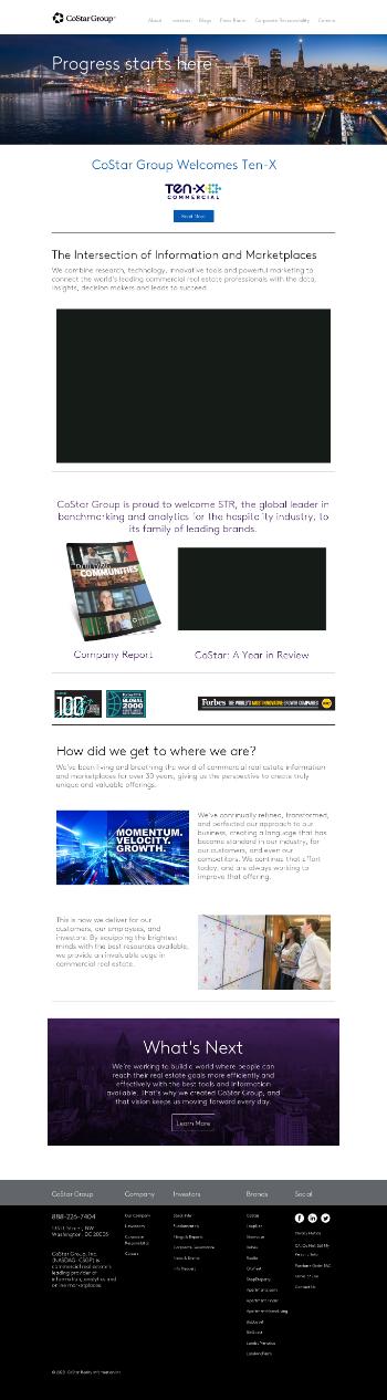 CoStar Group, Inc. Website Screenshot