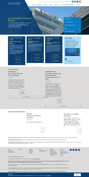 Calamos Strategic Total Return Fund Website Screenshot