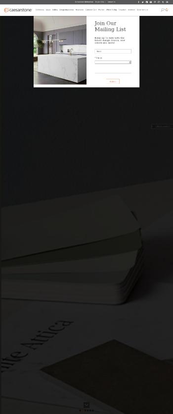 Caesarstone Ltd. Website Screenshot