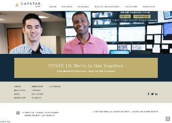 Capstar Financial Holdings, Inc. Website Screenshot