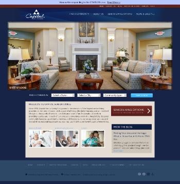 Capital Senior Living Corporation Website Screenshot