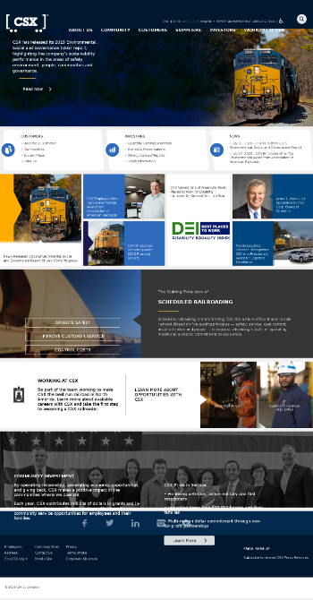 CSX Corporation Website Screenshot