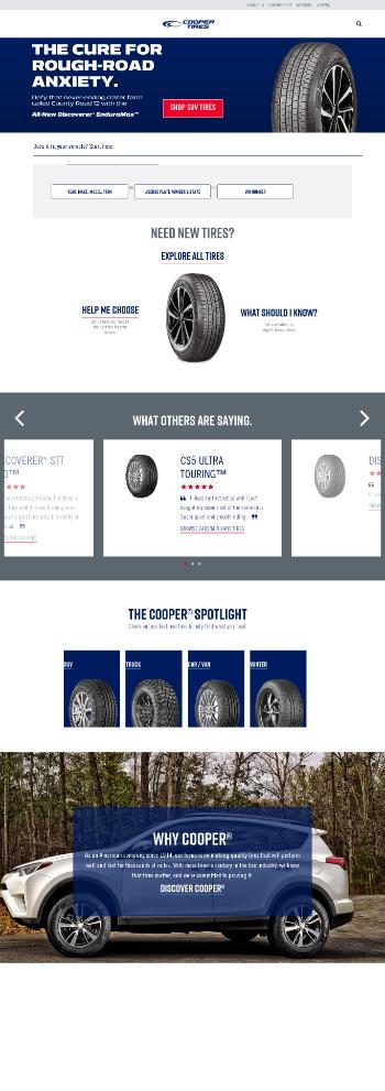 Cooper Tire & Rubber Company Website Screenshot