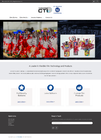 Yunhong CTI Ltd. Website Screenshot