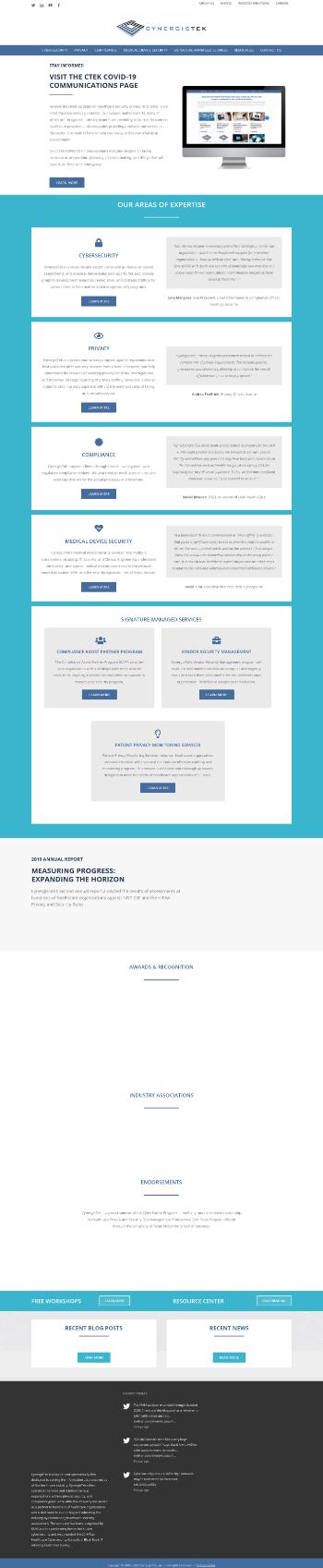 CynergisTek, Inc. Website Screenshot
