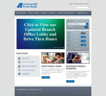 Community Trust Bancorp, Inc. Website Screenshot