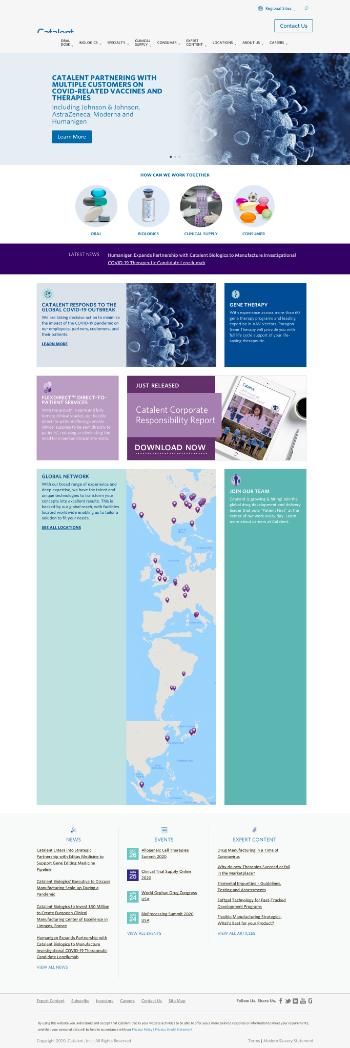 Catalent, Inc. Website Screenshot