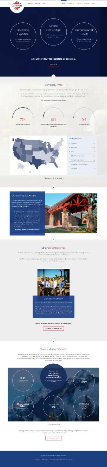 CareTrust REIT, Inc. Website Screenshot