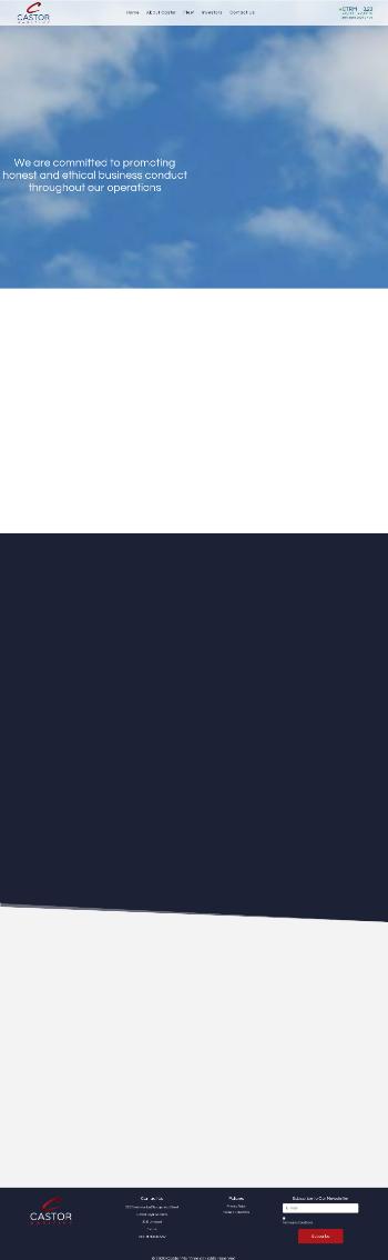 Castor Maritime Inc. Website Screenshot