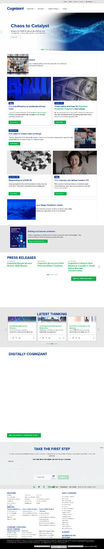 Cognizant Technology Solutions Corporation Website Screenshot