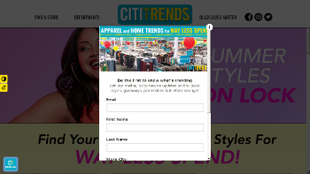Citi Trends, Inc. Website Screenshot