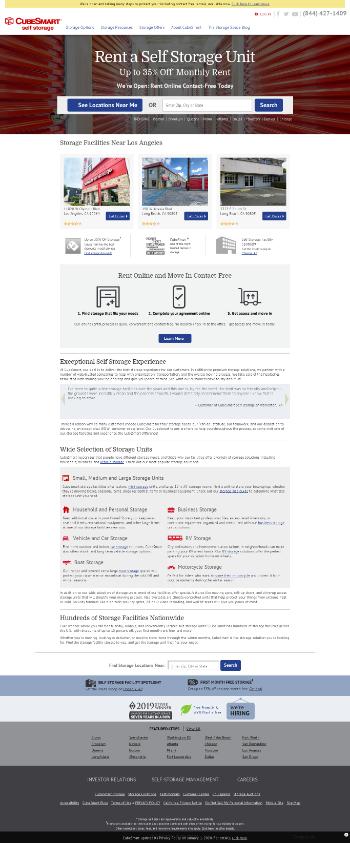 CubeSmart Website Screenshot