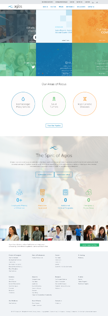 Agios Pharmaceuticals, Inc. Website Screenshot