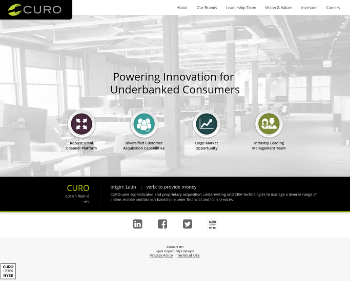 CURO Group Holdings Corp. Website Screenshot