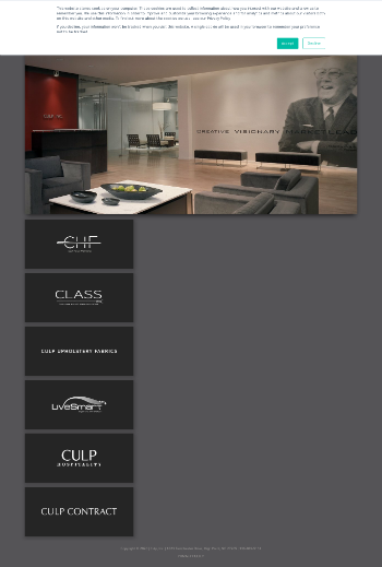 Culp, Inc. Website Screenshot