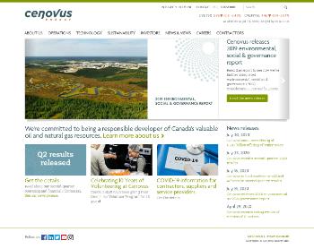 Cenovus Energy Inc. Website Screenshot