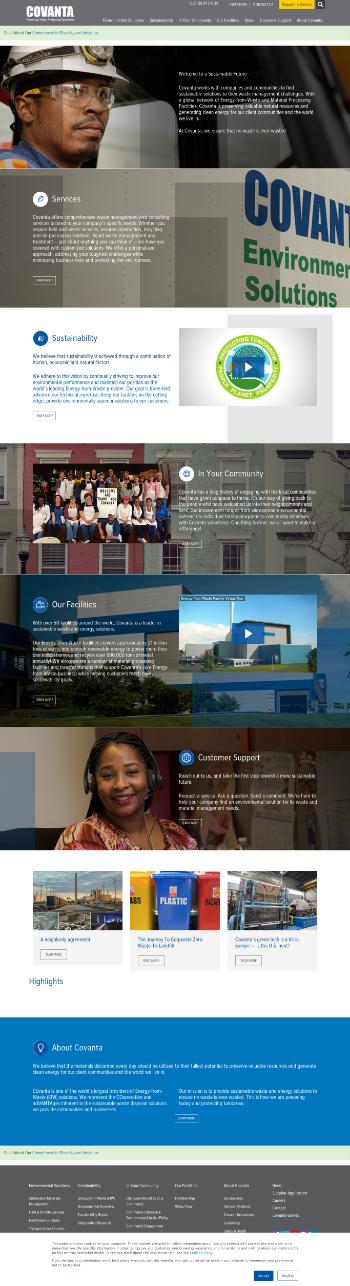 Covanta Holding Corporation Website Screenshot