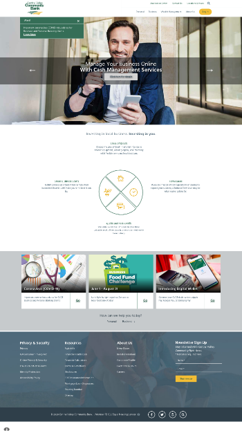 Central Valley Community Bancorp Website Screenshot