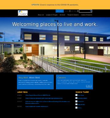 Civeo Corporation Website Screenshot