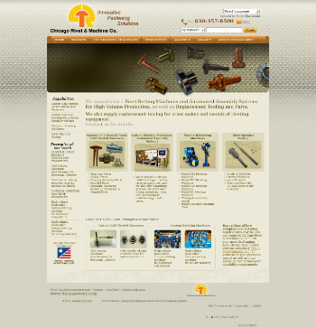 Chicago Rivet & Machine Co. Website Screenshot