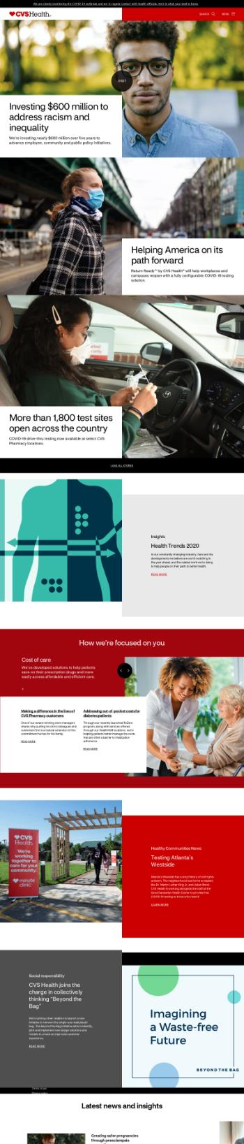 CVS Health Corporation Website Screenshot