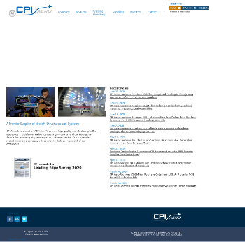 CPI Aerostructures, Inc. Website Screenshot