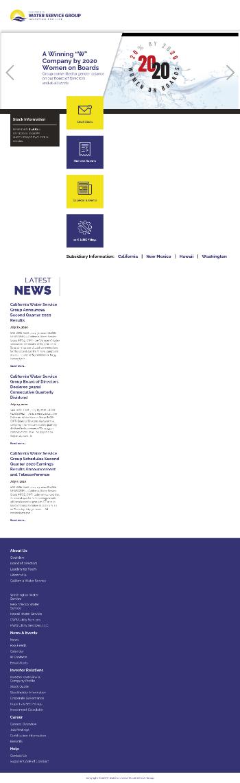 California Water Service Group Website Screenshot