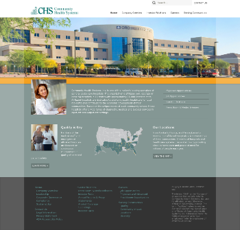 Community Health Systems, Inc. Website Screenshot