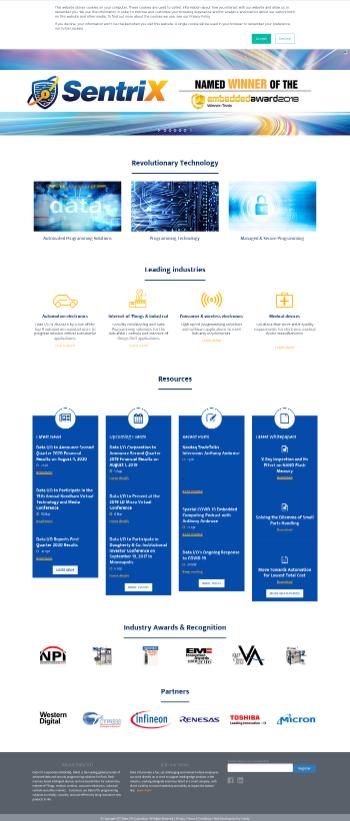 Data I/O Corporation Website Screenshot