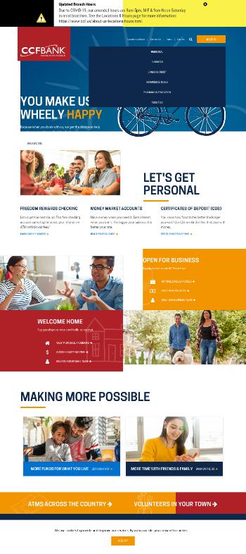 Citizens Community Bancorp, Inc. Website Screenshot