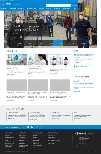Agilent Technologies, Inc. Website Screenshot
