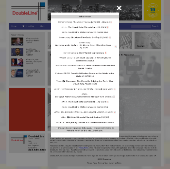 DoubleLine Opportunistic Credit Fund Website Screenshot