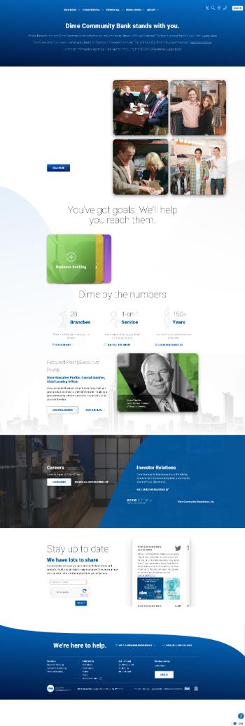 Dime Community Bancshares, Inc. Website Screenshot