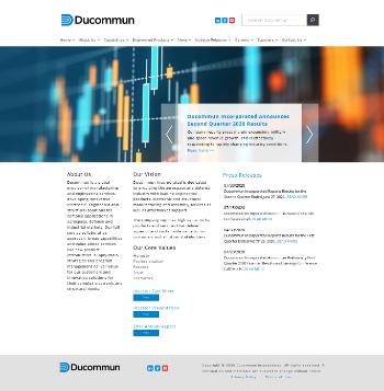 Ducommun Incorporated Website Screenshot
